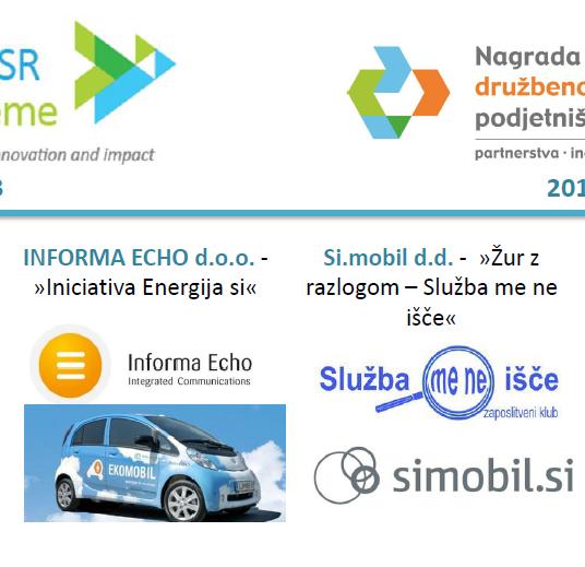 Nagradi družbeno odgovornih podjetniških praks 2013 in 2014