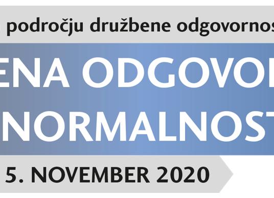 Konferenca trendi na področju družbene odgovornosti 2020: Družbena odgovornost – nova realnost